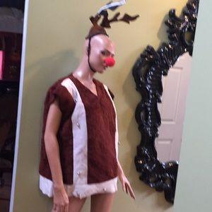 Vintage reindeer Christmas very silly Costume